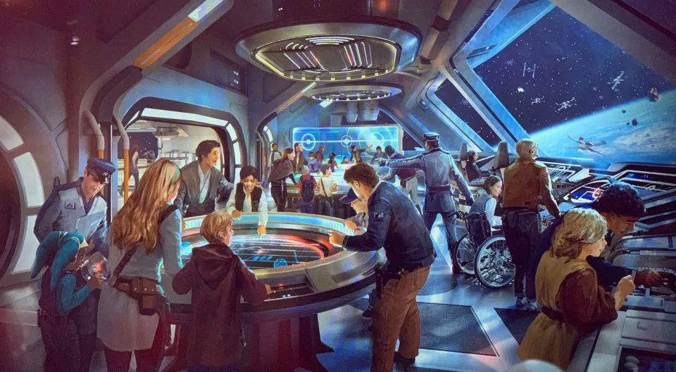 Bridge at the Star Wars: Galactic Starcruiser hotel